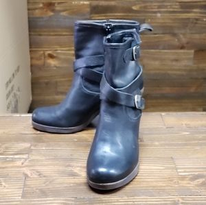 Lucky Brand Ankle Heel Boots Size 7.5